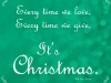 Christmas Quote - green