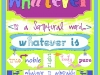 Whatever is a Scriptural Word!