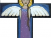 Angel in Cross - purple