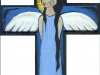 Angel in Cross - blue