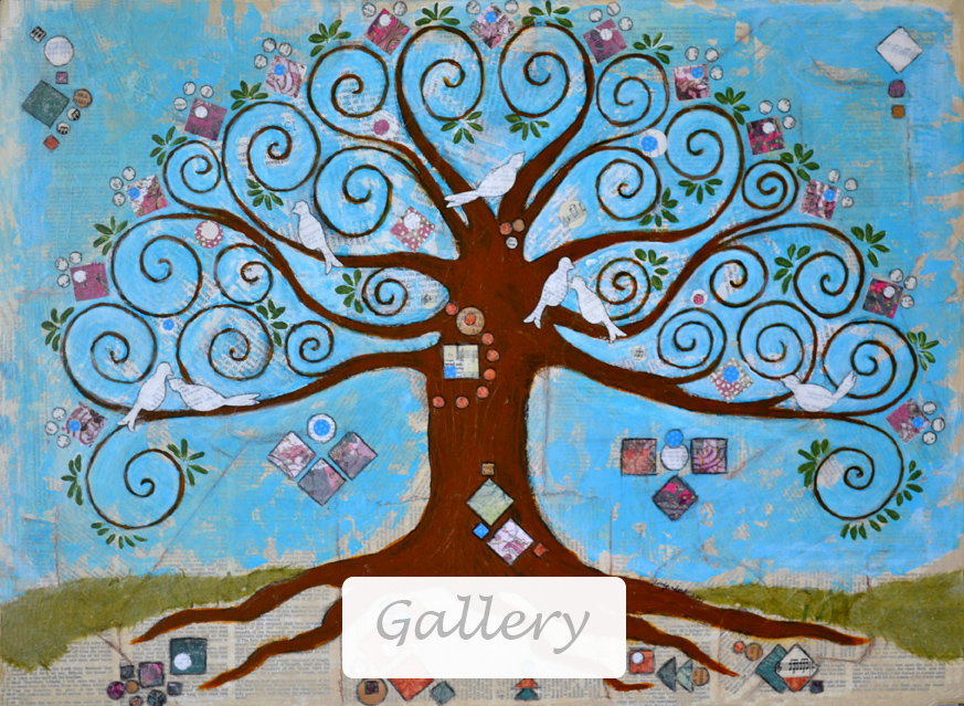 Mixed Media Gallery - Klimt Tree