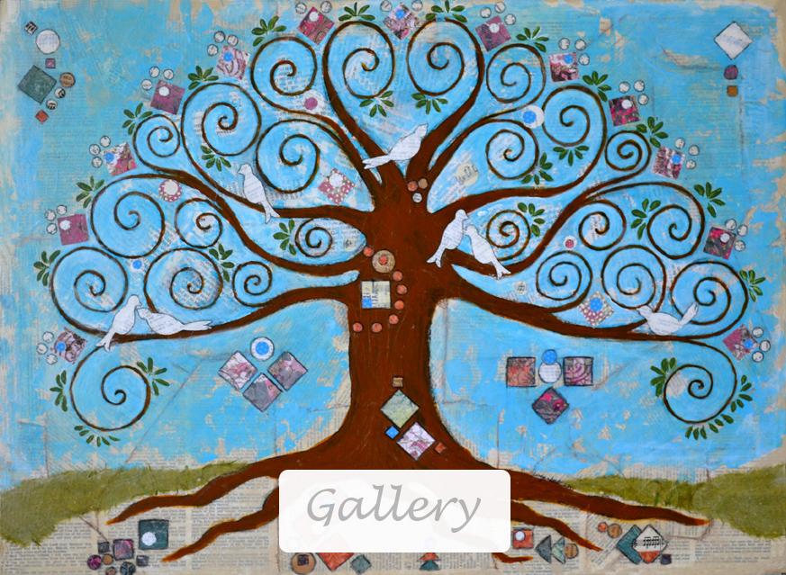 Mixed Media Gallery - Klimt Tree